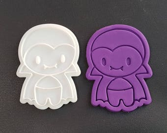 Cute Dracula Cookie Cutter and Stamp