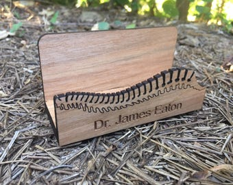Chiropractor desktop business card holder. Perfect chiropractic graduation gift!
