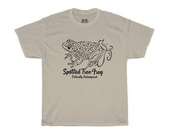 Mens Tee Shirt Spotted Tree Frog Black Print