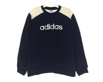 ADIDAS sweatshirt crew neck spell out jumper