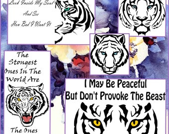 Layered and Outlined Tiger SVG files - Tiger Svg Png Jpeg Eps Dxf Files made for cricut and other cutting machines