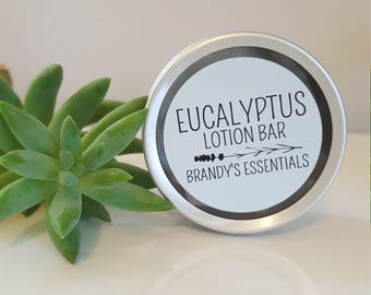 Eucalyptus Lotion Bar with Essential Oil