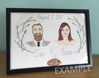 Custom Couple Portrait (A4)