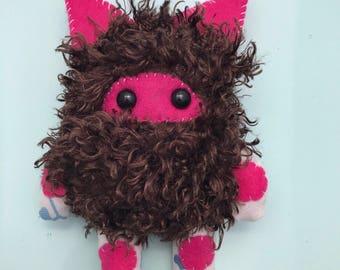 Lil' Monster Plush// monster plush, monster stuffed animal, denton monster, monster stuffed toy, ooak plush, art toy, toy, ooak doll, denton