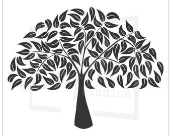 Family Tree Stencil 2, Family Tree Template, Tree Stencil, Tree Branch Stencil, Large Tree Stencil, Tree Template