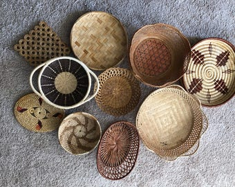 Vintage wall basket collection 10 piece