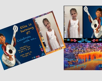 Coco Birthday Invitation and/or Thank You Card - personalized and digital