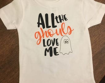 All The Ghouls Love Me boys t-shirt