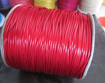 1 m of red waxed cord 1.5 mm in diameter