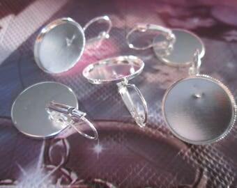 10 blank earrings sleepers silver 20 mm cabochon