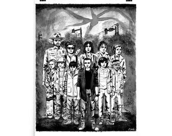 Stranger Things B&W fine art print