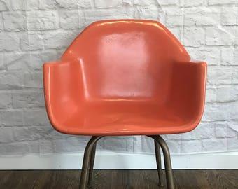 Orange Eams Mid Mod Style Chair