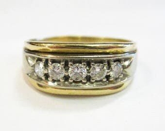 14K Diamond Men's Ring - X2685