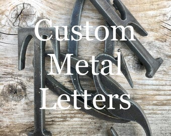 "3"", 4"", 5"", 6"" - Any Size - Steel Metal Letters and Numbers - Personalize - Any Font"