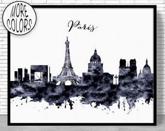 Paris Decor, Paris Print, Paris Skyline, Paris France, Paris Poster, Paris Art Print, Paris Wall Art, Cityscape Art, ArtPrintZone