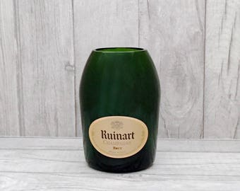 Ruinart Champagne Vase (Recycled Bottle)