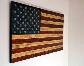 American, Flag made from Wood, Gift for military, loft, Wall decoration, Independence Day, Memorial Day, Flag day, interior design, Flag USA