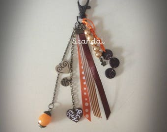 Jewelry bags in shades of Brown and orange