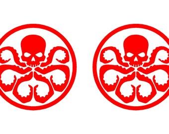 2 Hydra Vinyl Decals Car Window Laptop Marvel Symbol Stickers