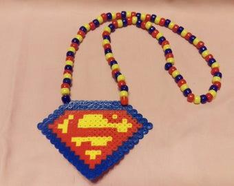 Superman Perler Necklace
