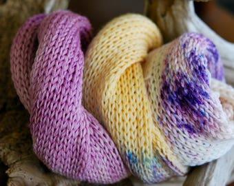 Hand Dyed Sock Yarn Blank - You Make Me Happy