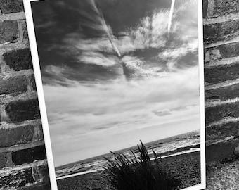 Beach scene print