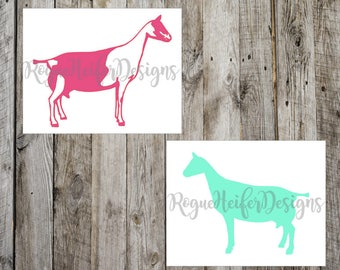 Alpine Show Goat Decal - Dairy Goat - Milk Goat -  Stockshow - Livestock decal - 4H - FFA - Organic Farming - Saanen goat toggenburg