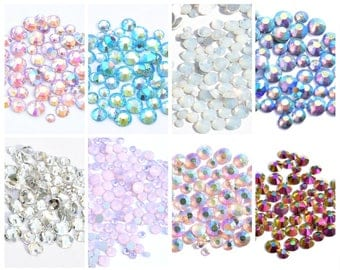 1440 rhinestones rhinestones Crystal mix crystals aquamarine, pink, purple, clear, Opal white, peach SS4, ss6, ss8, ss10, ss12