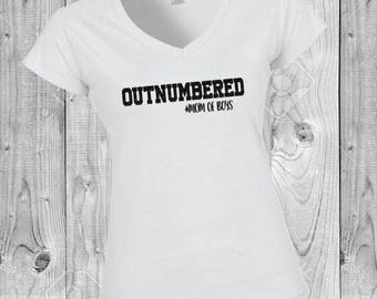 Outnumbered shirt Mom Life Shirt