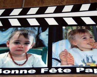 personalized placemat CLAP movies with your photos