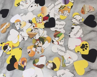 Disney 101 Dalmatians Paper Hearts Confetti Wedding Birthday Party Baby Shower Decorations Book Page