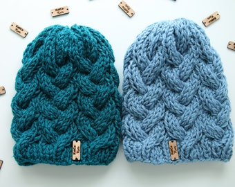 Custom Order | Cabled Beanie, Textured, Thick, Double Layered