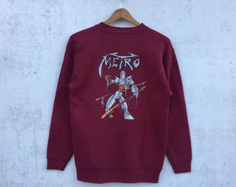 Vintage METRO Sweatshirt Medium Size #821