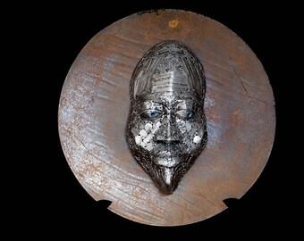 "Metal Face Sculpture ""Bubuye"""