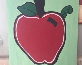 Teacher Themed Painted Canvas