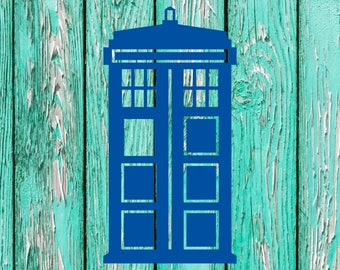 Custom Doctor Who Tardis Decal Stickers