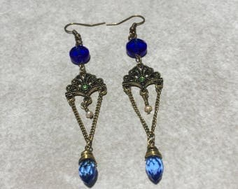Steampunk Earrings Flapper Earrings Downton Abbey Earrings Gothic Earrings