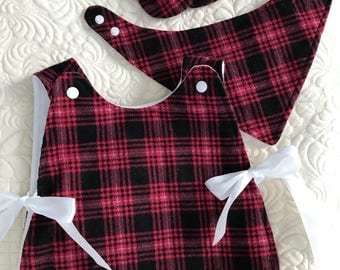 Baby girl red, three piece gift set, special occasion outfit
