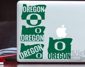 University of Oregon Custom & Permanent State Vinyl Decal