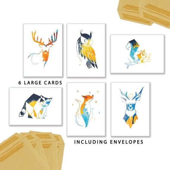 Blauwe set kaarten van StudioSarie