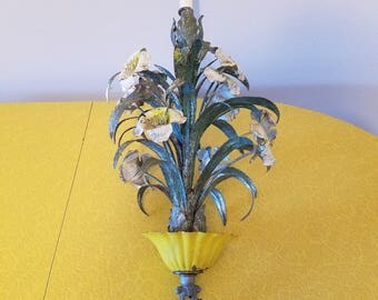 French tole light fixture