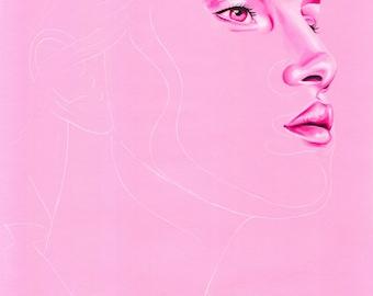 Pink Portrait Print