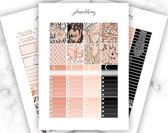 PEACHES Weekly Kit // Printable Planner Stickers / Erin Condren Plum Paper Happy Planner Filofax Inkwell Press Spring Butterfly Lipgloss