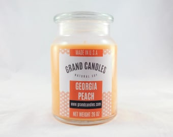 Peach Soy Candle | Soy Candles | Scented Soy Candle | Candles | Aromatherapy | Scented Candles | Candle | Vegan Candle | Best soy candle