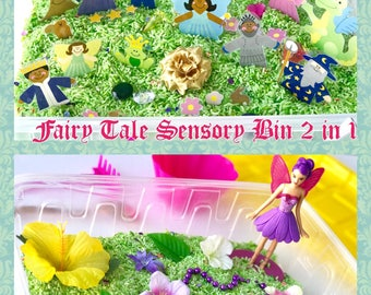 Fairy Tale Sensory Bin, 2 in 1