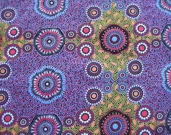One Fat quarter//100% Cotton//Quilting fabric//Aboriginal fabric//Australian//patchwork