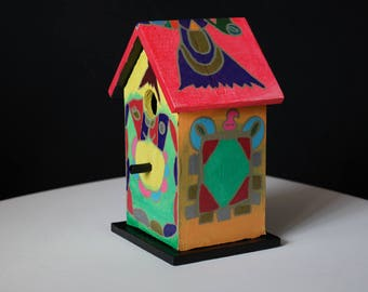 Decorative birdhouse.