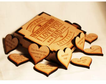 Personalised Mother's Day / Birthday / Anniversary Gift 10 Reasons Why We I Love You Engraved Wooden Box
