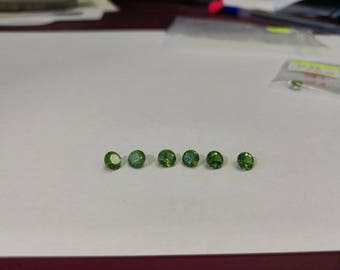 Green Tourmaline Round faceted gemstone 1pc 4mm