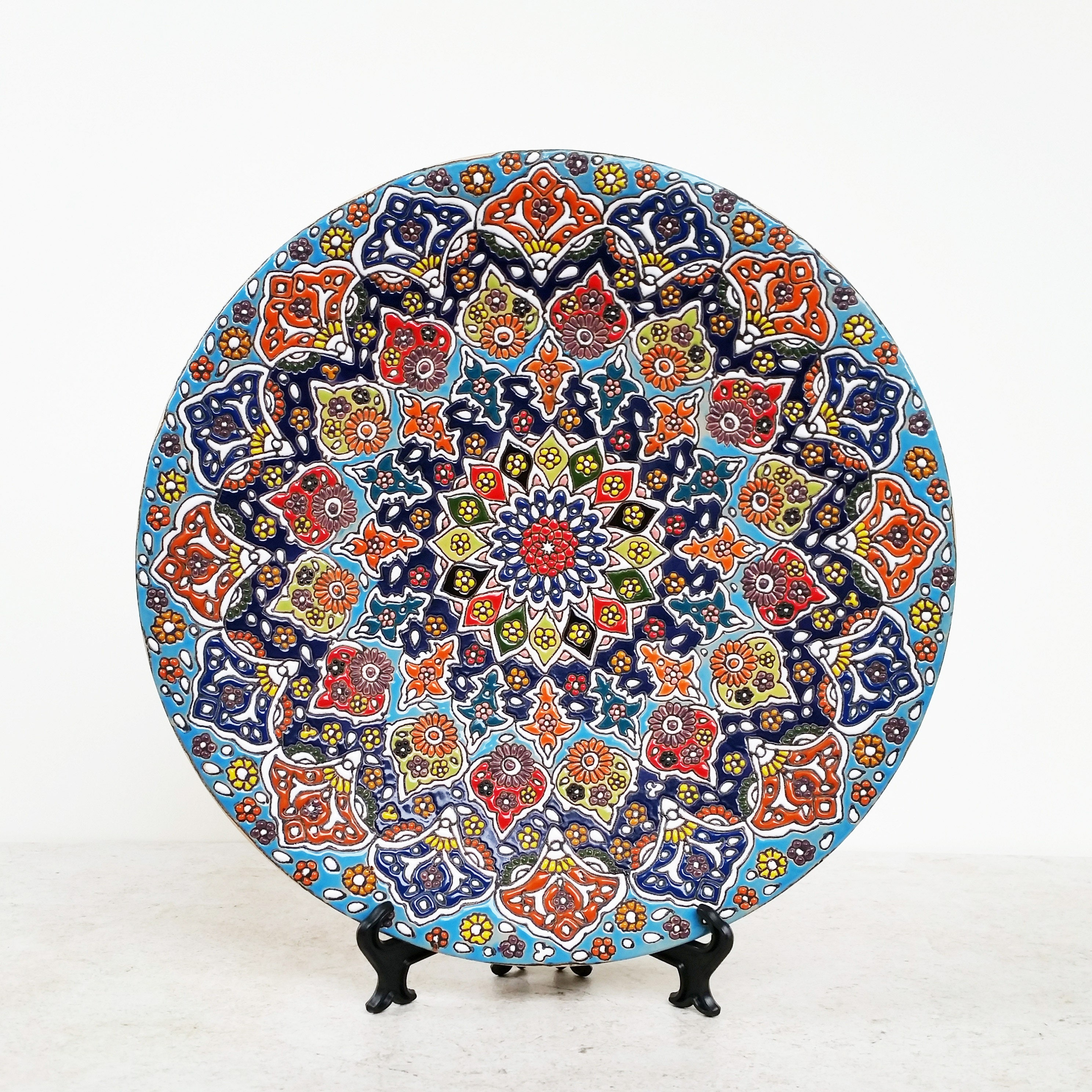 Handmade ceramic wall plate pottery hanging plate plate zoom amipublicfo Image collections